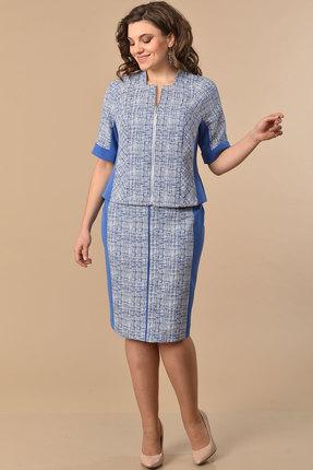 Комплект юбочный Lady Style Classic 1313 голубой