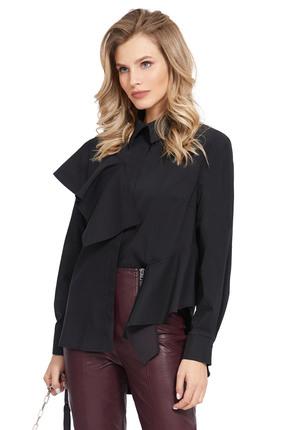 женская рубашка pirs, черная