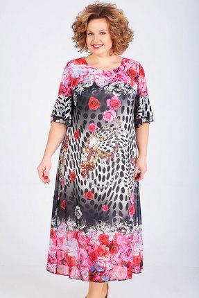 Платье Ксения Стиль 1756 розовый