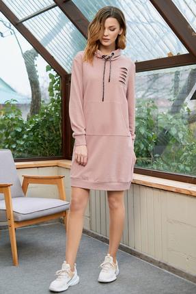 Спортивное платье Фантазия Мод 3602 розовые тона