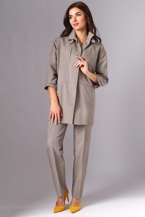 Комплект брючный Миа Мода 1122 темно-бежевый