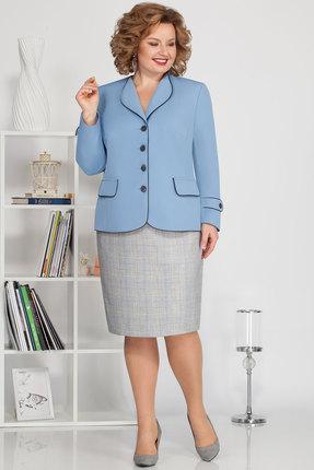 Комплект юбочный Ivelta plus 2486 голубой с серым
