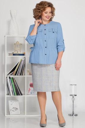 Комплект юбочный Ivelta plus 2487 голубой с серым