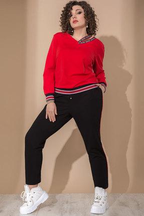 Спортивный костюм Галеан Cтиль 740 красный  с черным
