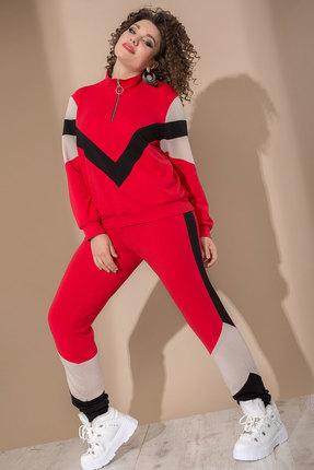 Спортивный костюм Галеан Cтиль 748 красный