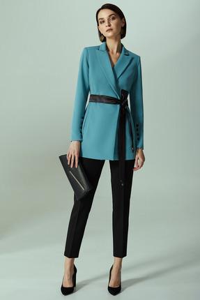 Комплект брючный Denissa Fashion 1289 темная бирюза