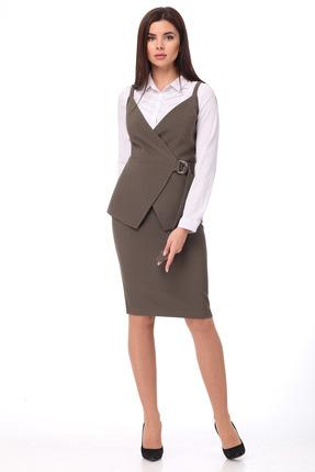 Комплект юбочный SandyNa 13659 хаки