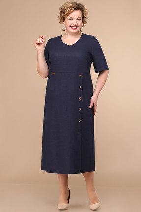 женское повседневные платье линия-л, синее