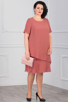 Платье Мадам Рита 5013 чайная роза
