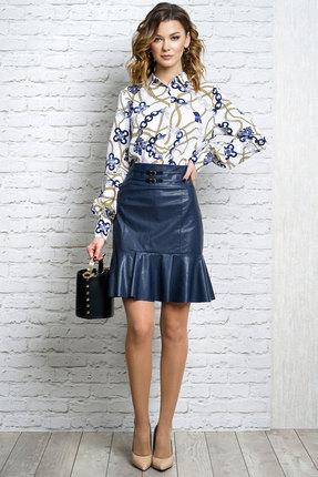 Комплект юбочный Alani 1109 синий с белым