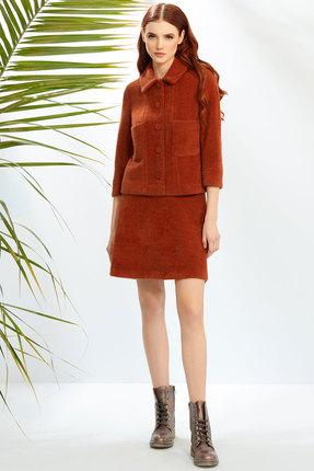 Комплект юбочный Prestige 3839 коричневый