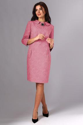 Платье Миа Мода 1118-5 коралловый с розовым