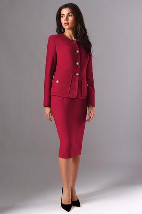Комплект юбочный Миа Мода 1130-1 красно-бордовый