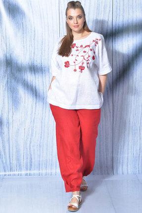 Комплект брючный MALI 719-013 красный+белый