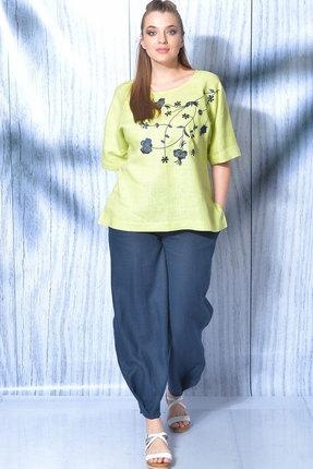 женский брючный костюм mali, салатовый