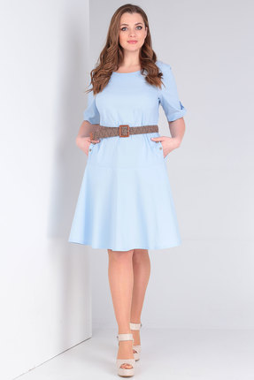 женское повседневные платье danaida, голубое