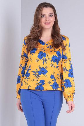 женская блузка danaida, желтая