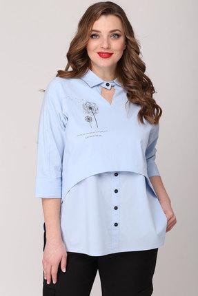 женская блузка danaida, голубая