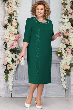 Платье Ninele 2246 изумруд