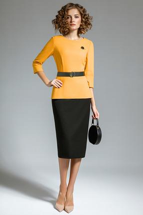 Комплект юбочный Gizart 5058ж желтый с черным