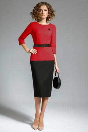 Комплект юбочный Gizart 5058к красный с черным