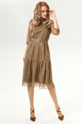Платье Магия Моды 1713 коричневые тона