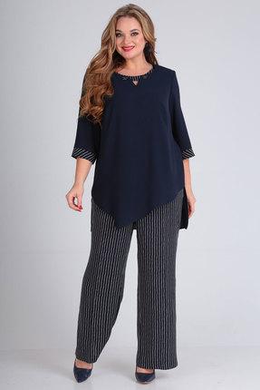 Комплект брючный Andrea Style 00256 синий