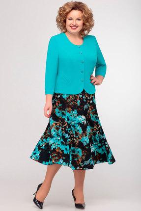 Комплект юбочный Асолия 1122.9 бирюзовый