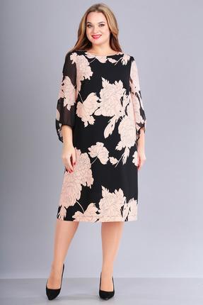 Платье FoxyFox 169 черный с пудрой