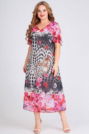 Платье Ксения Стиль 1758 красные тона