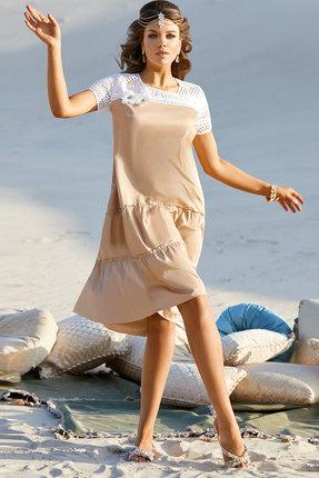 женское вечерние платье vittoria queen, песочное