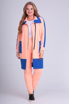 женский спортивный костюм anastasia mak, персиковый