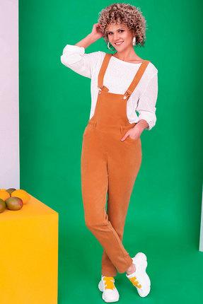 женский комбинезон euromoda, оранжевый