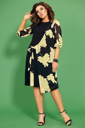 Платье Мублиз 432 черный с желтым