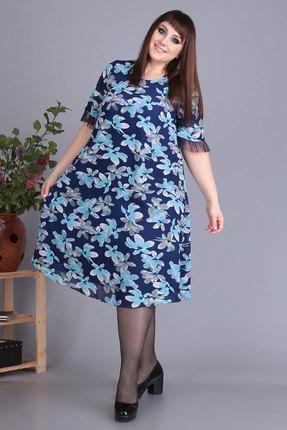 Платье Algranda 3478-с синий