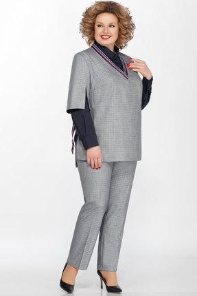 женский брючный костюм lakona, серый