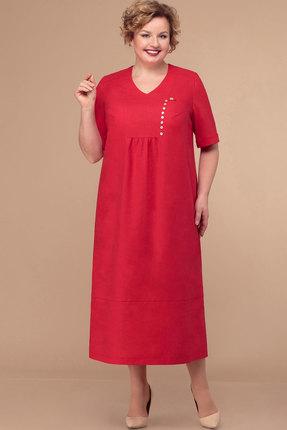 женское повседневные платье линия-л, красное