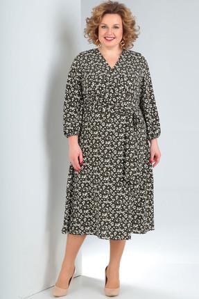 женское повседневные платье milana, оливковое