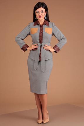 Комплект юбочный Мода-Юрс 2505 серые тона
