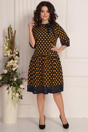 женское платье в горошек solomeya lux, синее