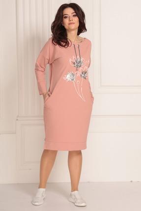 женское повседневные платье solomeya lux, розовое