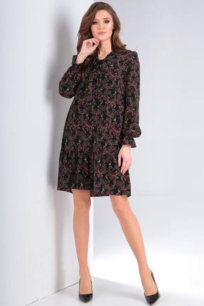 женское повседневные платье milana, черное