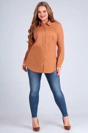 Рубашка Таир-Гранд 62252 охра