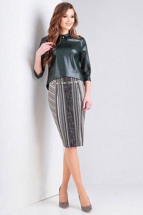 Комплект юбочный Милора-Стиль 422 зеленый