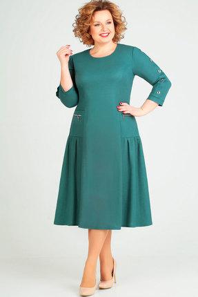 женское повседневные платье асолия, бирюзовое