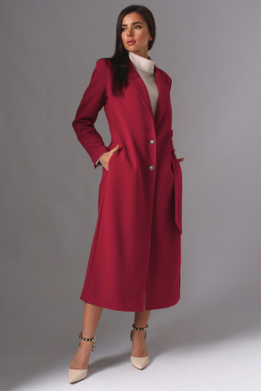 Плащ Миа Мода 1132-1 красно-бордовый