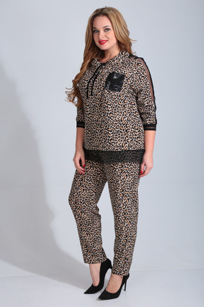 Комплект брючный Диамант 1511 леопард