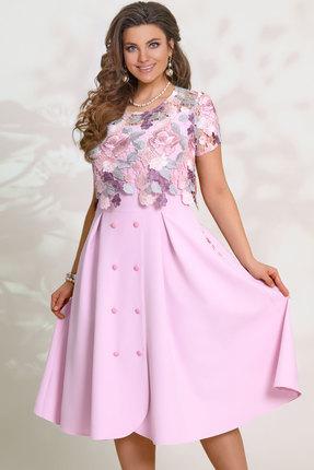 женское вечерние платье vittoria queen, розовое