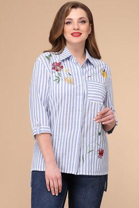женская рубашка линия-л, белая