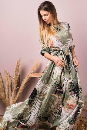 Платье Mirolia 733 зеленые тона